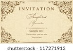 invitation cards in an old... | Shutterstock .eps vector #117271912