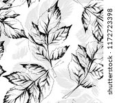 sketched leaves seamless... | Shutterstock .eps vector #1172723398