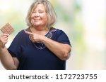 senior plus size caucasian...   Shutterstock . vector #1172723755