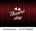 theatre day illustration with... | Shutterstock .eps vector #1172724865