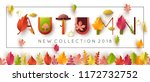 autumn new collection vector... | Shutterstock .eps vector #1172732752