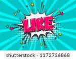 like nice good  wow comic text... | Shutterstock .eps vector #1172736868