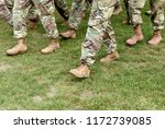 us troops. soldiers marching on ... | Shutterstock . vector #1172739085