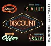 retro banner motel sign... | Shutterstock .eps vector #1172746855