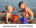 funny boys are playing with... | Shutterstock . vector #1172749582