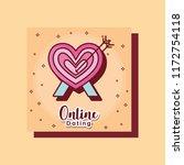 heart pierced arrow online... | Shutterstock .eps vector #1172754118