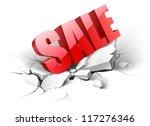 vector icon. fallen sale word | Shutterstock .eps vector #117276346