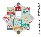 set of carnival icons | Shutterstock .eps vector #1172764768