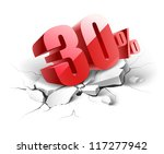 30 percent discount icon on... | Shutterstock .eps vector #117277942