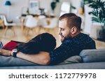 romantic couple spending free... | Shutterstock . vector #1172779978