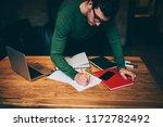 good looking pensive caucasian... | Shutterstock . vector #1172782492