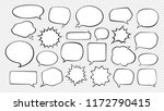 speech bubbles. cartoon vector... | Shutterstock .eps vector #1172790415