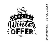 special winter offer typography ... | Shutterstock .eps vector #1172793655