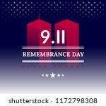 usa never forget september 11 ... | Shutterstock .eps vector #1172798308