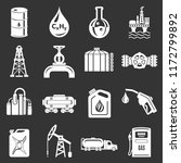 oil industry icons set white... | Shutterstock . vector #1172799892