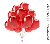 party balloons red birthday... | Shutterstock . vector #1172804785