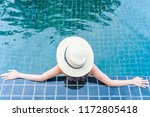 young asian woman relaxing in... | Shutterstock . vector #1172805418