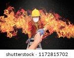 firefighter rescue  fireman... | Shutterstock . vector #1172815702