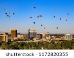 downtown Boise, Idaho during Balloon Festival at Ann Morrison Park