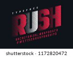 racing display font design ... | Shutterstock .eps vector #1172820472