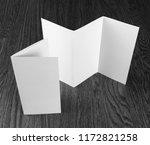 mockup of white booklet on... | Shutterstock . vector #1172821258