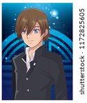 young man anime cartoon | Shutterstock .eps vector #1172825605
