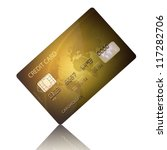 detail textured credit card on... | Shutterstock . vector #117282706