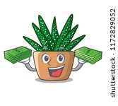with money cartoon zebra cactus ... | Shutterstock .eps vector #1172829052