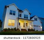 residential house at dusk | Shutterstock . vector #1172830525