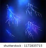 vector set of lightning bolts.... | Shutterstock .eps vector #1172835715