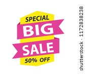 big sale label | Shutterstock .eps vector #1172838238