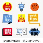 quick tips banner or help full... | Shutterstock .eps vector #1172849992