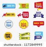 quick tips banner or help full... | Shutterstock .eps vector #1172849995