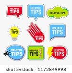 quick tips banner or help full... | Shutterstock .eps vector #1172849998