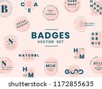 set of logo badge design vectors | Shutterstock .eps vector #1172855635
