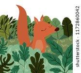 wild chipmunk in the jungle... | Shutterstock .eps vector #1172860042