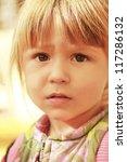 beautiful little girl in the... | Shutterstock . vector #117286132