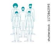 group of men characters | Shutterstock .eps vector #1172862595