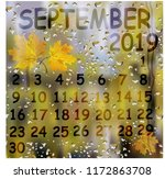 background september calendar... | Shutterstock .eps vector #1172863708