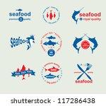 set of vintage and modern... | Shutterstock .eps vector #117286438