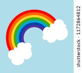rainbow floating on the sky... | Shutterstock .eps vector #1172864812