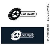 tyre shop logo design   tyre... | Shutterstock .eps vector #1172869462