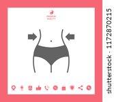 women waist  weight loss  diet  ... | Shutterstock .eps vector #1172870215