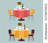 reserved sign on the table in... | Shutterstock .eps vector #1172872012