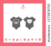 baby rompers icon | Shutterstock .eps vector #1172878705