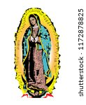 our lady of guadalupe virgin... | Shutterstock .eps vector #1172878825