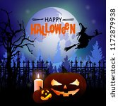 halloween background with a... | Shutterstock .eps vector #1172879938