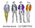 fashion man. set of fashiona... | Shutterstock .eps vector #1172887552