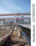 preserved kobe city port at the ... | Shutterstock . vector #1172902735