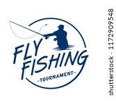fly fishing tournament logo.... | Shutterstock .eps vector #1172909548